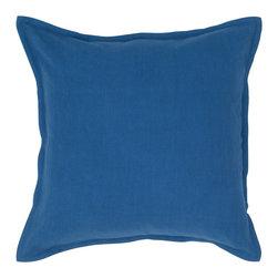 """Indigo Blue Solid 20"""" x 20"""" Pillow  Set of 2 - *20"""" x 20"""" Pillow with Hidden Zipper"""