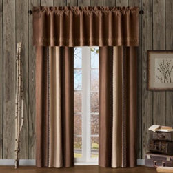 E & E Co., Ltd. - River Run 84-Inch Window Curtain Panel Pair - These window treatments will turn any bedroom into a high-end lodge where you can get cozy in the beauty of a rustic setting. 100% polyester.