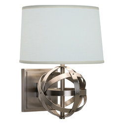 Robert Abbey - Lucy Wall Sconce - Modern wall sconces are a great space-saving lighting option. These modern spheres will make an elegant statement in your master bedroom, while leaving plenty of space on your nightstand for books and magazines. Choose from a nickel or bronze finish and you'll be reading in style.