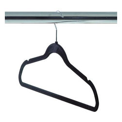 Home Decorators Collection - Felt Hanger - Set of 50 - Keep your delicates, wide neck shirts, suit jackets, pants, skirts and dresses organized and free of creases with our set of 50 Felt Hangers. These non-slip hangers boast a slim profile that will maximize your closet space. Chrome swivel hangers. Nonslip felt. Thin profile with shoulder notches. Rounded edges won't crease clothing.