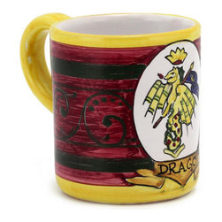 Artistica - Hand Made in Italy - PALIO DI SIENA: Drago mug - PALIO DI SIENA Collection: The Palio di Siena is a tournament as a replica of a medieval horse race which is ran twice year, during the summer season, in the city of Siena, located in the beautiful Tuscany region.
