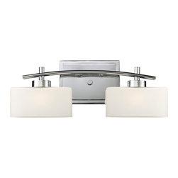 ELK Lighting - ELK Lighting 17081/2 Eastbrook Polished Chrome 2 Light Vanity - ELK Lighting 17081/2 Eastbrook Polished Chrome 2 Light Vanity