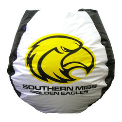 """Bean Bag Boys - Southern Mississippi Eagles Bean Bag - The Southern Mississippi Eagles Bean Bag features bold graphics and bright, contrasting colors that will enhance any sports enthusiast's bedroom or games room!  The 10 lb.  bean bag chair measures 112 inches around and is constructed from durable, washable vinyl. * Durable vinyl constructionBean bag features logo for Southern Mississippi Eagles 30"""" X 30"""" 36"""". 112"""" Circumference10 lbs."""