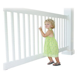 Kid Kusion - Kid Safe Deck Guard - Enjoy your outdoors with confidence. Made to withstand any weather, this plastic mesh fits on railings to keep little ones safe on the deck or balcony.