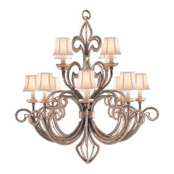 Fine Art Lamps - Fine Art Lamps 137140ST A Midsummer Nights Dream Patina Chandelier - 12 Bulbs, Bulb Type: 60 Watt Candelabra; Weight: 48lbs