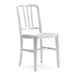 Zuo Modern - Zuo Bistro Chair in Brushed Aluminum [Set of 2] - Bistro Chair in Brushed Aluminum by Zuo Modern This chair is made from light weight aluminum with a brushed finish. Chair (2)