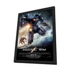 Pacific Rim 11 x 17 Movie Poster - Style B - in Deluxe Wood Frame - Pacific Rim 11 x 17 Movie Poster - Style B - in Deluxe Wood Frame.  Amazing movie poster, comes ready to hang, 11 x 17 inches poster size, and 13 x 19 inches in total size framed. Cast: Robert Kazinsky