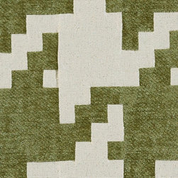 Geometric - Artichoke - 51% Rayon 49% Polyester. Made in CHINA.