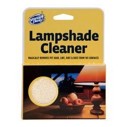 Sparkle Plenty - Sparkle Plenty LampShade Cleaner - Magically cleans pet hair, dirt & dust from hundreds of surfaces, from lampshades, oil paintings, intricate frames, trophy mounts, etc. etc. ... Rub Lampshade Cleaner in one direction and watch it eat dirt, dust and pet hair. Always use dry!  When all sides are dirty simply wash with warm water, let air dry and reuse.