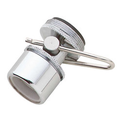 Renovators Supply - Shower Aerators Chrome Shower Touch Flow Aerator - At the touch of a fingertip, you can turn your water off temporarily, and turn it back on without having to re-adjust the temperature.  Chrome plated over solid brass.  Fits most faucets.