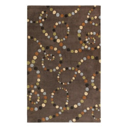Surya Rugs - Cosmopolitan Brown Contemporary Rug - COS8858-811 - Construction: Hand made