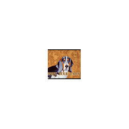 Caroline's Treasures - Basset Hound Wipe Your Paws Indoor or Outdoor Mat 18 x 27 Lh9448Mat - Basset Hound Wipe your Paws Indoor or Outdoor Mat 18x27 LH9448MAT Indoor/ Outdoor Floor Mat 18 inch by 27 inch Action Back Felt Floor Mat / Carpet / Rug that is Made and Printed in the USA. A Black binding tape is sewn around the mat for durability and to nicely frame the artwork. The mat has been permanently dyed for moderate traffic and can be placed inside or out (only under a covered space). Durable and fade resistant. The back of the mat is rubber backed to keep the mat from slipping on a smooth floor. Wash with soap and water.