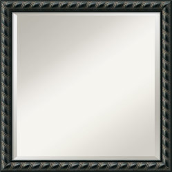 Pequot Black Wall Mirror