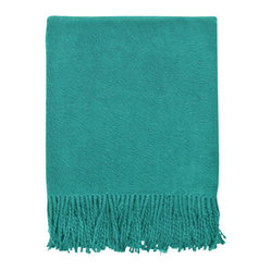 Brushed Organic Cotton Throw, Teal