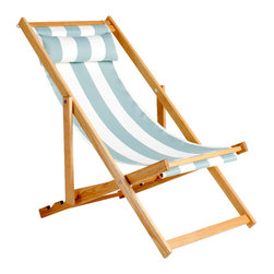 Gallant & Jones - Natadola Chair - Deck chair with Fabric Sling and Pillow