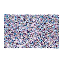 THE RUG MARKET - SHAGGY RAGGY MULTI - >br> This area rug is designed to enhance your kids space.  This multicolored rug is made of cotton jersey.