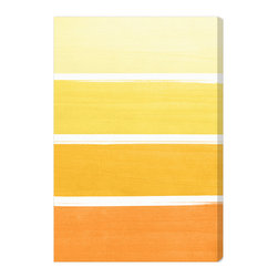 "The Oliver Gal Artist Co. - 'The Right Shade of Yellow'  Fine Art Canvas 24"" x 36"" - Add the perfect pop of sunshiny yellow to any room in your house with this ombré canvas. The full spectrum of yellow is showcased — from marigold to pale lemon. Choose from two sizes and delight in this happy hue."