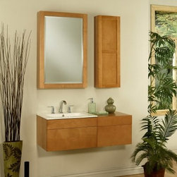 Sagehill Designs Lincoln Street LS2418D 24 in. Wall Mount Maple Single Bathroom - Let the Sagehill Designs Lincoln Street LS2418D 24 in. Wall Mount Maple Single Bathroom Vanity breathe new life into your bathroom. This unique vanity has simple lines and gives the illusion of floating being mounted on the wall. It has a bright maple finish and offers plenty of storage in its drawer. About Sagehill DesignsWith Sagehill Designs it's all in the details. Since 1986 Sagehill Designs has been crafting superior quality kitchen and bath furnishings. Rich in detail that matter you'll find heirloom-quality finishes impeccable craftsmanship and generous storage wrapped in a smart design. You get it all with a Sagehill Design original. Sagehill Design's specialists in helping you create the perfect kitchen or bath environment.