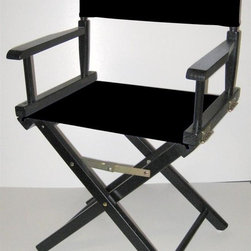 Yu Shan - Black Frame Director's Chair (Yellow) - Color: YellowCanvas can be washed by cold water only . For indoor use only. 18 in. Seat Height. Frame Color: Black. Canvas Color: Black. 33.75 in. H x  20.5 in. W x 15.75 in. D ( 11 lbs. )