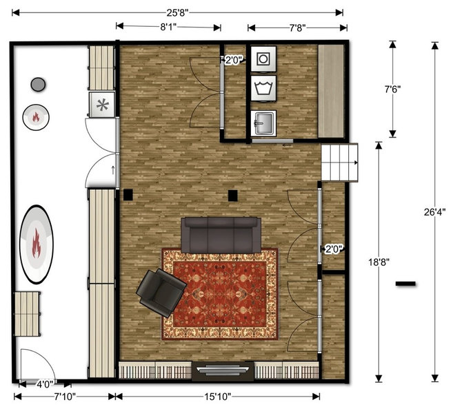 traditional floor plan by Christina Katos