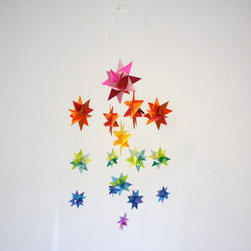 Baby Crib Mobile, Hanging Origami Stars, 'Milky Way' by The Starcraft - Everyone in the family will want to gaze upon this star mobile!