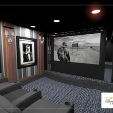 Contemporary Home Theater by Pierre Jean-Baptiste Interiors