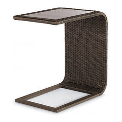 Palermo Glass-overlay Slider Table - Frontgate, Patio Furniture