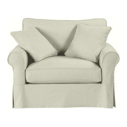 Ballard Designs - Suzanne Kasler Signature 13oz Linen Baldwin Swivel Chair Slipcover - Strong, over-locking seams that won't gap. Velcro strips that let you adjust fit from loose to tailored. Custom fitted to prevent shifting & bunching. Removes easily for cleaning or a fresh change of seasonal color. The deep, down blend cushions of our Baldwin Swivel Chair are so comfortable, it could become the most coveted seat in the house. Baldwin Essentials Slipcovers are made exclusively with fabrics selected from our Essentials collection, specially chosen because they work everywhere and mix with everything. They're all beautifully priced and ready to ship. Baldwin Special Order Slipcovers are custom made in your choice of any of our Designer Fabrics or you can send us your own material. Baldwin Slipcovers are designed exclusively to fit our Baldwin seating and are required when ordering a Baldwin frame (sold separately). Baldwin Slipcover features: . . . .