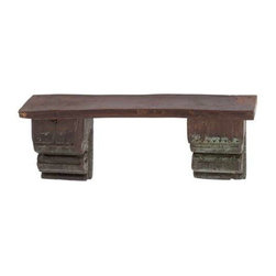 Benzara - Antique Reclaimed Wood Wall Shelf with Two Rustic Designed Corbels - Antique reclaimed wood wall shelf with two rustic designed corbels. This antique reclaimed rustic wood wall shelf is the perfect addition to your home decor. The dimensions of the wood wall shelf are 33x7x13.