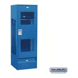 Salsbury Industries - Standard Gear Metal Locker - Ventilated Door - 6 Feet High - 24 Inches Deep - Bl - Standard Gear Metal Locker - Ventilated Door - 6 Feet High - 24 Inches Deep - Blue - Unassembled
