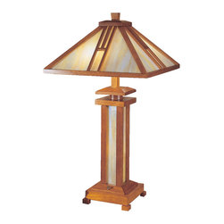 Dale Tiffany - Dale Tiffany 2401 Wood Mission Table Lamp - Dale Tiffany 2401 Wood Mission Table Lamp