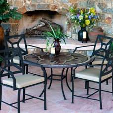 Mediterranean Outdoor Dining Tables by Iron Accents