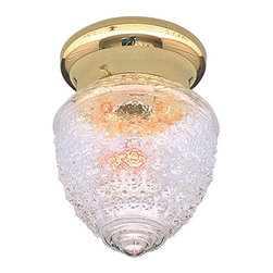 None - Transitional Polished Brass One-Light Flush Sconce with Crystal Glass Shade - This one-light flush sconce features a polished brass finish creating an elegant accent for any bathroom. Brighten your home bath with a classic fixture that will provide you with the the light levels you need to create a more comfortable space.