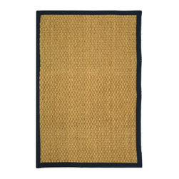 Safavieh - Safavieh Natural Fiber Casual Rug X-9-E411FN - Hand-woven with natural sea grass, this casual area rug is innately soft and durable.  This densely woven rug will add a warm accent and feel to any home.  The 100-percent cotton canvas backing adds durability.
