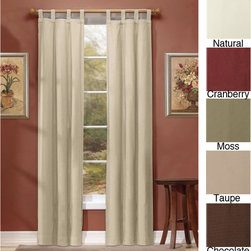 None - Ridgedale Thermal Backed Tab Top Curtain Panel Pair - Save energy in style with these thermal tab-top curtains that are specially designed to help keep your home at the optimal temperature. Available in several popular colors,they also help reduce noise and block light while increasing privacy.