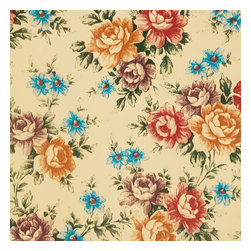 Blancho Bedding - Blooming Peony - Self-Adhesive Wallpaper Home Decor Roll - Wallpaper can transform a room quickly and easily. You can wallpaper all walls, the ceiling or create a large over scaled piece of artwork by framing it. It would be perfect for nearly any room in the house: your living room, bedroom, bathroom, etc. The wallpaper are made of a high quality, waterproof, and durable vinyl and will stick to any smooth surface. It can be washed with gentle pressure and a soft damp cloth Strippable. You can add your own unique style in minutes! This wallpaper is a perfect gift for friend or family who enjoy decorating their homes.