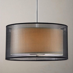 None - Simple Elegance 3-light Chrome Pendant and Ceiling Mount Chandelier - Create an elegant look for your home with this 3-light chrome pendant ceiling mount chandelier from Simple Elegance. The height-adjustable chrome chandelier features a dual-shade design.