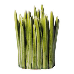 Large Grass Vase by Normann Copenhagen - This clever little vase does not even need flowers, but when you do add them, you'll have live stems inside stoneware stems.