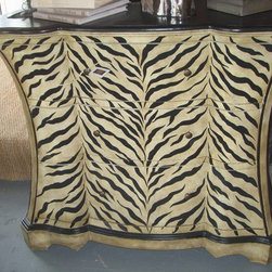 Zebra Bedside Chest / Side Table / Foyer Piece - Zebra Bedside Chest / Side Table / Foyer Piece