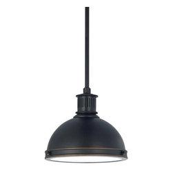Sea Gull Lighting - Sea Gull Lighting 65085 Pratt Street Metal 1 Light Industrial Pendant - Features: