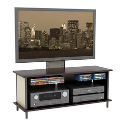 Atlantic Inc - Atlantic Inc Epic 3 in 1 46 Inches TV Stand and Mount - Atlantic Inc - TV Stands - 88335750 - Epic 3 in 1 offers a gamut of features and boasts both design and function. This 3 in 1 solution gives the option to mount your flat panel TV in 3 different ways; on the Wall Mounted on Unit or resting on unit's top shelf. On board media storage, wire management slots, and a shelf for multiple A/V components make the Epic 3 in 1 ideal your entertainment center.