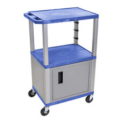 Luxor - H Wilson Presentation Cart - WT42BUC4E-N - H Wilson's WT Tuffy multi-purpose carts are made of high density polyethylene structural foam injection molded plastic shelves and legs that will not chip, warp, crack, rust or peel. Shelves and legs can be recycled.
