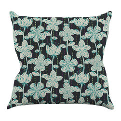 """Kess InHouse - Julia Grifol """"My Grey Spotted Flowers"""" Throw Pillow (16"""" x 16"""") - Rest among the art you love. Transform your hang out room into a hip gallery, that's also comfortable. With this pillow you can create an environment that reflects your unique style. It's amazing what a throw pillow can do to complete a room. (Kess InHouse is not responsible for pillow fighting that may occur as the result of creative stimulation)."""