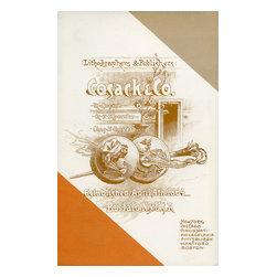 Cosack and Co. Lithographers and Publishers Print - Printed promotion forCosack & Co. Lithographers & Publishers. Established, April, 4th 1864, Buffalo, NY USA. New York, Chicago, Cincinnati, Philadelphia, Pittsburgh, Hartford, Boston.