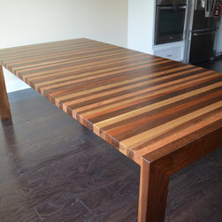 Mixed Wood Table - Mixed wood table for a wonderful customer. The wood used was walnut, mahogany, red oak and white oak!