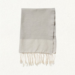 Gray Honeycomb Towel - Soft towels are a must. I typically go with all white but this is great neutral for your hand towel.