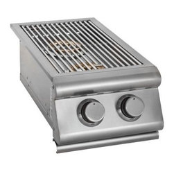 Blaze Outdoor - Blaze Double Side NG Burner - Two heavy duty 12,000 BTU brass burners provide superior heat output
