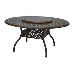 Darlee - Darlee Lazy Susan - 28 in. - 201080-39-28-AB - Shop for Serveware from Hayneedle.com! Keep everyone at the table happy with the Darlee Lazy Susan - 28 in.. Made in a lattice-style tabletop design it rotates easily and makes a statement of hospitality and style. The lazy Susan is crafted from weather-resilient cast-aluminum construction and powder-coated with an antique bronze and mocha finish.About DarleeSince 1993 Darlee has developed a wide variety of products to help you create your ideal outdoor-living environment. Working with high-quality materials Darlee achieves a large spectrum of styles that covers a range of interests as well as aesthetic tastes. From classic to contemporary from conversation sets to dining sets to fire pits Darlee has you covered for outdoor entertaining. Because the company knows good business is built on trust and integrity Darlee focuses on reliable quality construction and remains committed to providing customers with the best service possible.