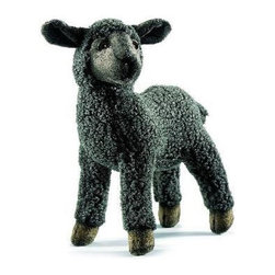 Hansa Toys - Hansa Black Kid Sheep - Baah! says this Hansa Sheep. Hansa Sheep is made from black woolly plush with dark eyes and eyelids. Hansa Sheep is standing on all four brown hooves. Ages 3 and up.