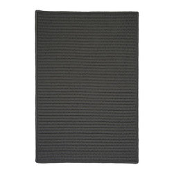 Colonial Mills - Colonial Mills Simply Home Solid H661 Gray Rug H661R144X180S 12x15 - Practical. Colorful. Versatile. Maintenance-free. Simply pick from 37 colors to find the perfect solid-color indoor/outdoor rug for your space.